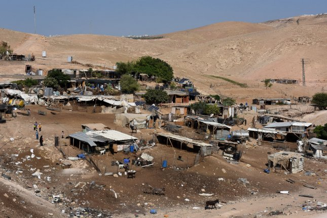 The Israeli Supreme Court did not order immediate evictions of villagers in Khan al-Ahmar. File Photo by Debbie Hill/UPI
