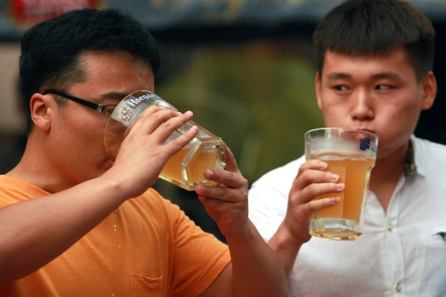 Climate change could depress global barley supplies, driving down beer consumption in countries all over the world. China is the world's largest consumer of beer by volume. File Photo by Stephen Shaver/UPI
