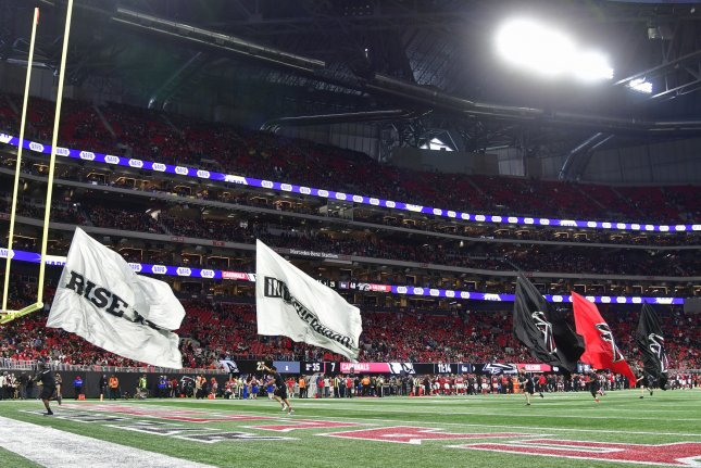 Mercedes-Benz Stadium initially planned to host between 10,000 and 20,000 fans at the 71,000-seat stadium until the coronavirus disrupted those plans. File Photo by David Tulis/UPI