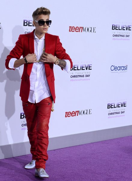 Justin Bieber attends the premiere of Justin Bieber's Believe', a backstage and on stage memoir concert film that documents his rise to super stardom, at Regal Cinemas in Los Angeles on December 18, 2013. UPI/Jim Ruymen