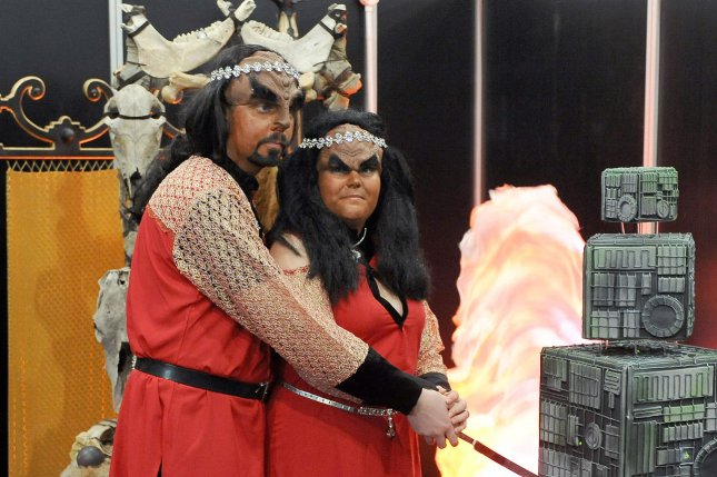 Swedish couple being married in full Klingon costume at the first ever Klingon wedding in the UK (File/UPI/Paul Treadway)