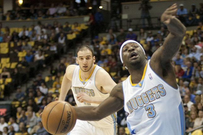 The Denver Nuggets will try to continue their win streak when they host the Orlando Magic at the Pepsi Center. File photo UPI/Gary C. Caskey.