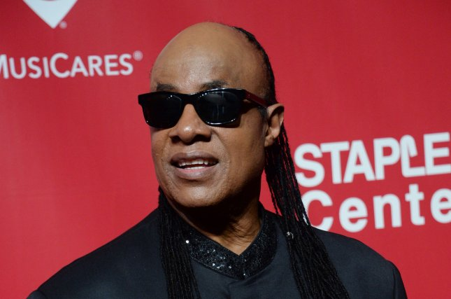 Singer Stevie Wonder arrives for the MusiCares Person of the Year gala held at the Los Angeles Convention Center on February 13, 2016. File Photo by Jim Ruymen/UPI