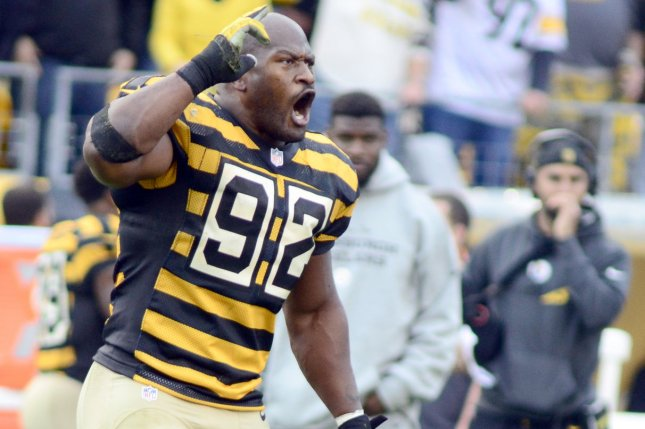Pittsburgh Steelers outside linebacker James Harrison has agreed to meet the NFL to discuss allegations he used performance enhancing drugs. Fule photo by Archie Carpenter/UPI