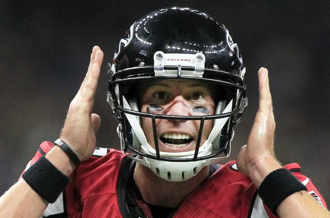 Atlanta Falcons quarterback Matt Ryan (2) changes the play at the line against the New Orleans Saints at the Mercedes-Benz Superdome in New Orleans September 26, 2016. Photo by AJ Sisco/UPI