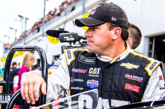 Pit strategy put Ryan Newman up front for an overtime restart in the Camping World 500 Monster Energy NASCAR Cup Series race, and he held off Kyle Larson to win on Sunday at Phoenix International Raceway. File Photo by Edwin Locke/UPI