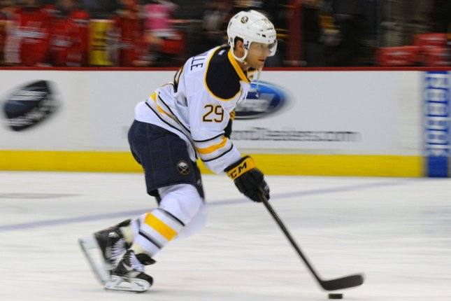 Jason Pominville and the Buffalo Sabres take on the New York Rangers on Sunday. Mark Goldman