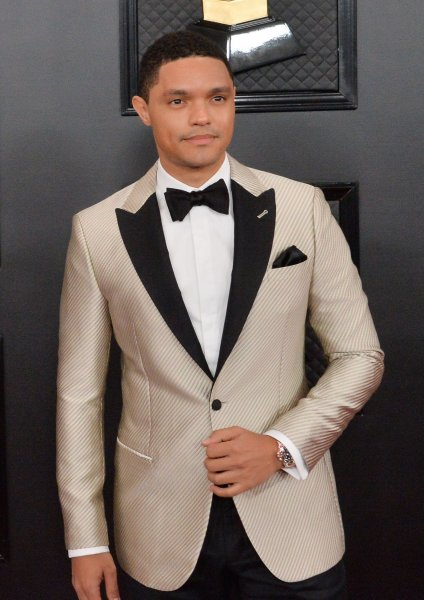 Trevor Noah arrives for the 62nd annual Grammy Awards held at Staples Center in Los Angeles on January 26, 2020. The comedian turns 37 on February 20. File Photo by Jim Ruymen/UPI