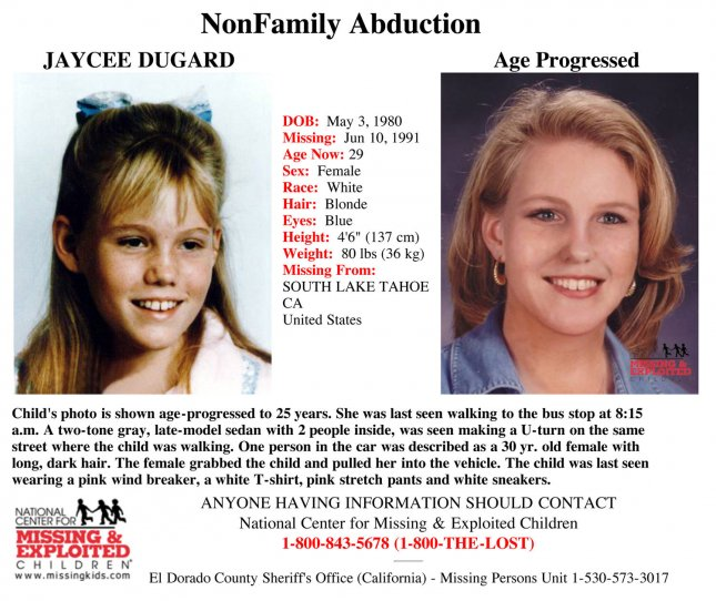 Image result for jaycee lee dugard