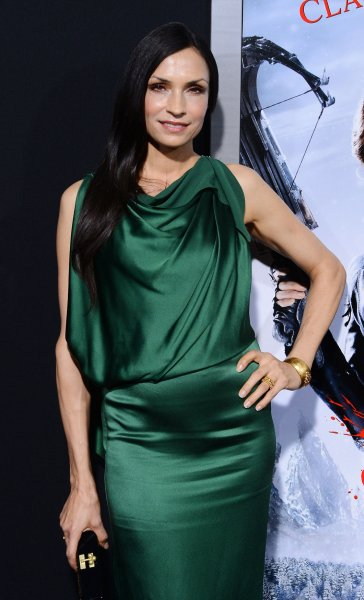 Famke Janssen, a cast member in the motion picture horror fantasy Hansel & Gretel: Witch Hunters, attends the premiere of the film at TCL Chinese Theatre in the Hollywood section of Los Angeles on January 24, 2013. UPI/Jim Ruymen