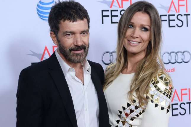 Cast member Antonio Banderas and his girlfriend, Dutch investment banker Nicole Kimpel, attend the premiere of the motion picture biographical drama The 33 as part of the AFI Fest in Los Angeles on Nov. 9, 2015. Photo by Jim Ruymen/UPI