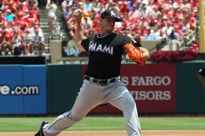 Miami Marlins starting pitcher Jose Fernandez. UPI/Rob Cornforth