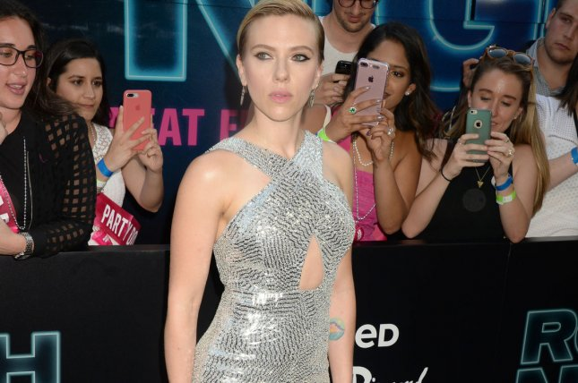 Scarlett Johansson arrives on the red carpet at the New York premiere of Sony's Rough Night on June 12 in New York City. The actress is lending her voice to a character in Wes Anderson's upcoming, animated movie, Isle of Dogs. File Photo by Dennis Van Tine/UPI
