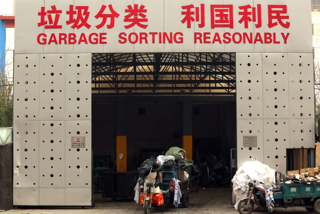 China is turning away more recyclable waste from other countries. File Photo by Stephen Shaver/UPI