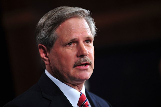 Sen. John Hoeven (R-ND) speaks on the cut, cap and balance bill during a press conference in Washington on July 21, 2011. Hoeven, in the GOP weekly address Saturday, called on President Obama to approve the Keystone XL pipeline project to bring oil from Canadian oil sands to the United States. UPI/Kevin Dietsch