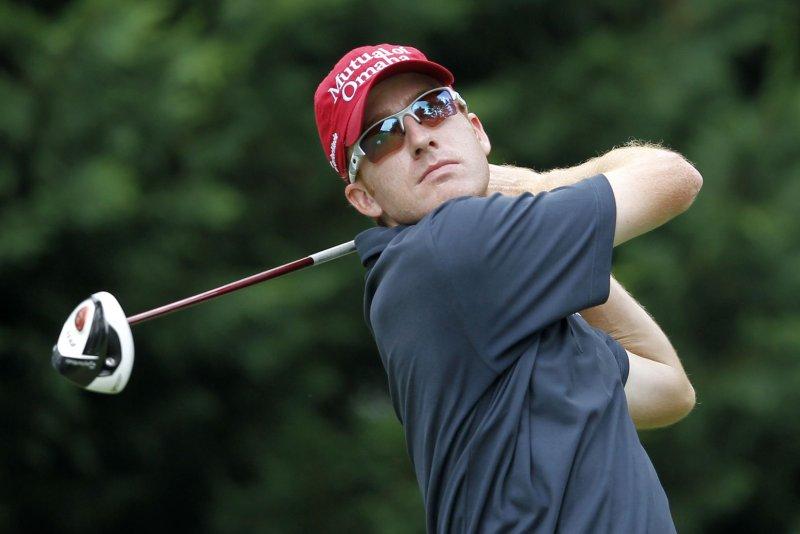 Roberto Castro hits a tee shot. UPI/Molly Riley