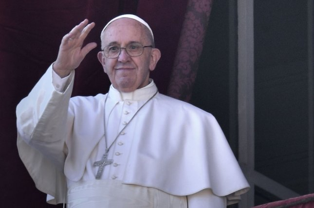 Pope Francis, seen here on Christmas day at St. Peter's Basilica, condemned capital punishment and called for a worldwide ban on the death penalty in his Sunday address in St. Peter's Square. Photo by Stefano Spaziani/UPI