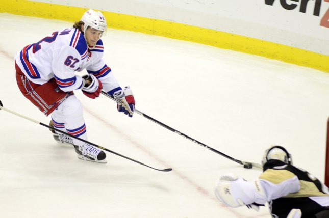 Benoit Pouliot, formerly of the New York Rangers, was waived by the Edmonton Oilers. Photo by Archie Carpenter/UPI