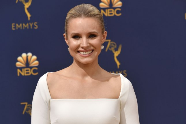 The Good Place star Kristen Bell. NBC has renewed the comedy for a fourth season. File Photo by Christine Chew/UPI