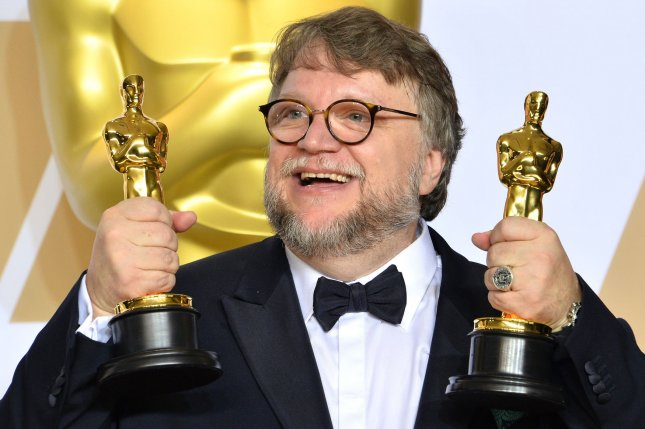 Trollhunters creator Guillermo del Toro appears backstage at the 90th annual Academy Awards in March 2018. Netflix has released the opening scene of Trollhunters: Rise of the Titans. File Photo by Jim Ruymen/UPI