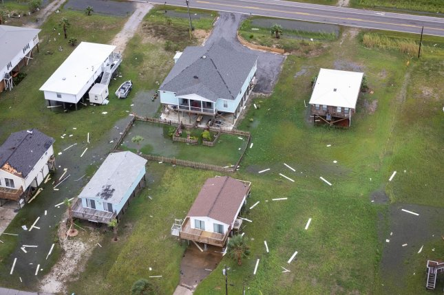 Damage from Hurricane Sally is seen from the air near Mobile, Ala., on Wednesday. The storm battered the region and is the fourth hurricane to make landfall in the United States this year. Photo by Jerry Glaser/U.S. Customs and Border Protection/UPI