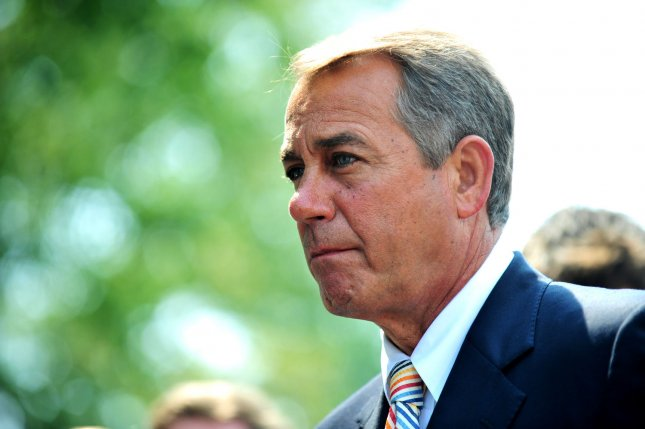 Speaker of the House John Boehner (R-OH) speaks to the media following a meeting with President Barack Obama and the House Republican Conference, at the White House in Washington on June 1, 2011. UPI/Kevin Dietsch