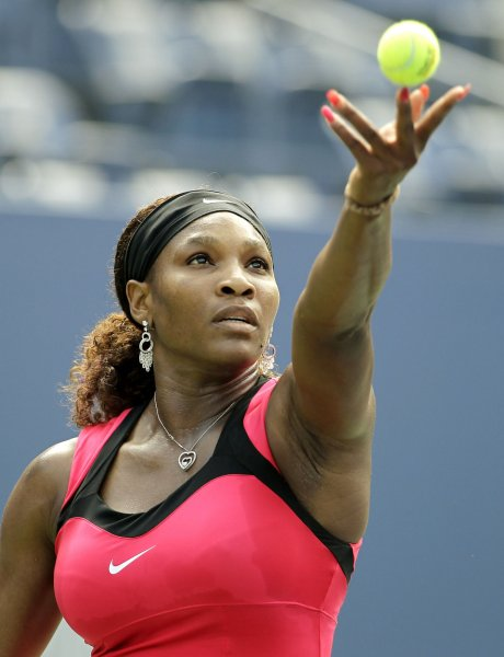 Serena Williams, shown during a match at the 2011 U.S. Open, on Monday returned to the Top 10 in the world women's tennis rankings. UPI/Monika Graff