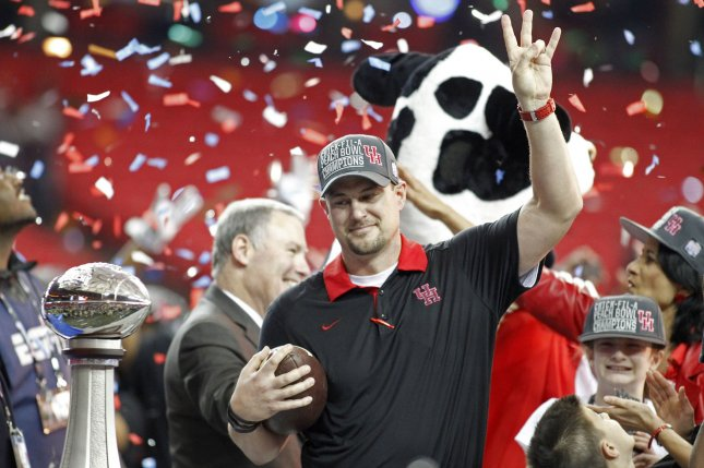 Houston Cougars head coach Tom Herman. Photo by Tami Chappell/UPI