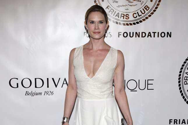 Stephanie March arrives on the red carpet at the Friars Club and Friars Foundation Entertainment Icon Awards in New York City on June 12, 2012. The actress married Dan Benton Friday after a two-year courtship. File Photo by John Angelillo/UPI