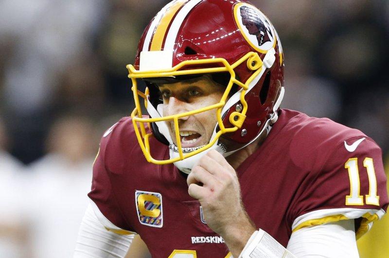 Alex Smith and the Washington Redskins take on the Carolina Panthers this weekend. Photo by AJ Sisco/UPI