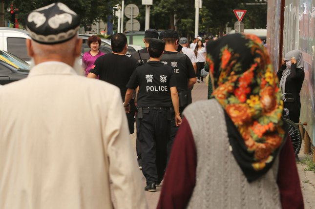 More members of China's Uighur minority are being held in a network of extrajudicial camps in Xinjiang, western China. File Photo by Stephen Shaver/UPI