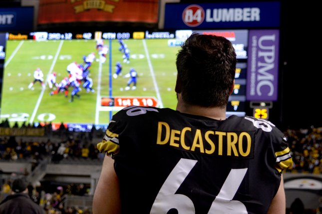 Pittsburgh Steelers offensive lineman David DeCastro, shown Dec. 30, 2018, was the Steelers' first-round pick in the 2012 draft. File Photo by Archie Carpenter/UPI