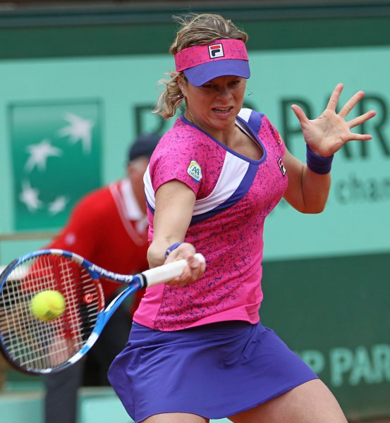 Kim Clijsters, shown during last year's French Open, was a straight-set winner Sunday as the WTA 2012 season opened in Australia. UPI/David Silpa