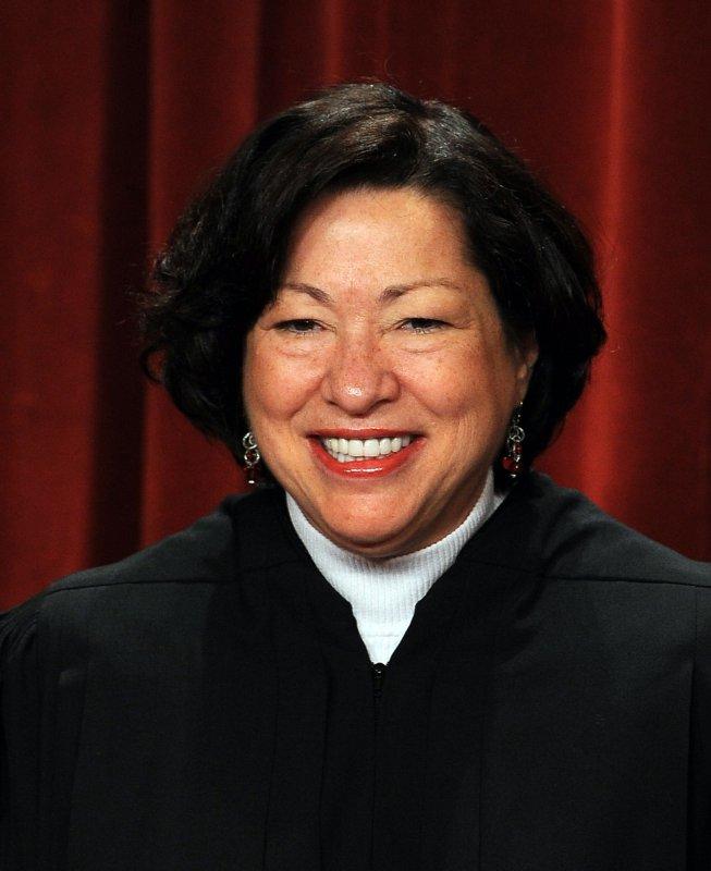 Associate Justice Sonia Sotomayor in 2010 2010. UPI/Roger L. Wollenberg