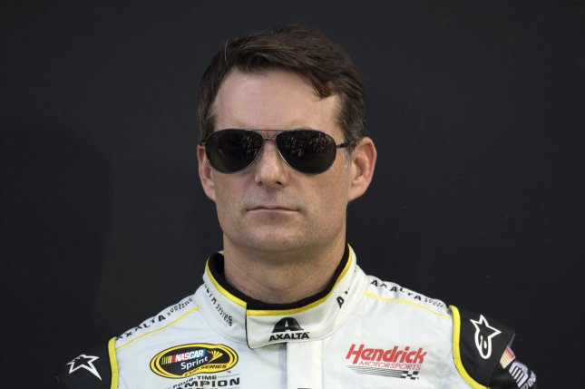 Jeff Gordon is introduced to the spectators at the 2015 NASCAR SPRINT CUP Series Ford Ecoboost 400 race at the Homestead-Miami Speedway on November 22, 2015. .Photo by Joe Marino-Bill Cantrell/UPI