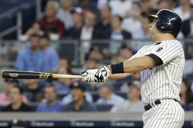 New York Yankees' Mark Teixeira. Photo by John Angelillo/UPI
