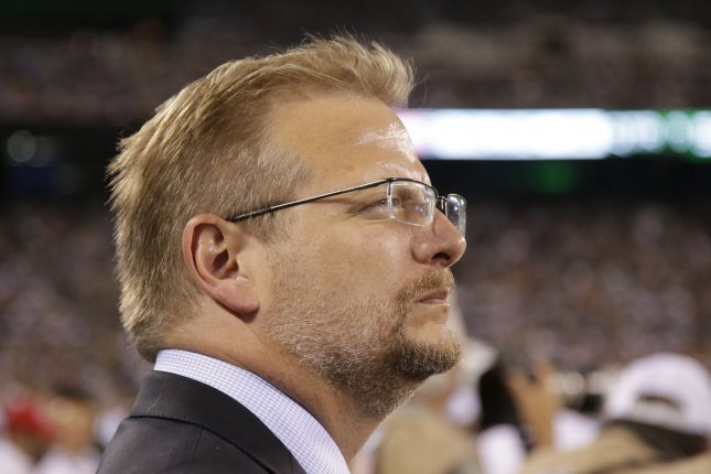 New York Jets General Manager Mike Maccagnan believes in drafting for the best available player. File photo by John Angelillo/UPI