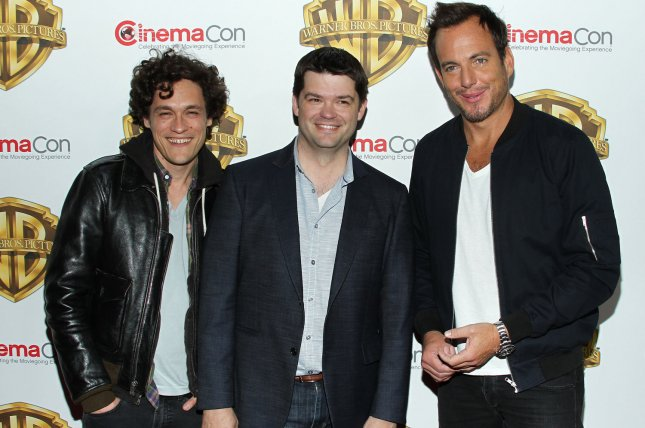 Phil Lord, Chris Miller and Will Arnett arrive for the Warner Bros. Pictures Presentation at CinemaCon 2016 in Las Vegas on April 12, 2016. Lord and Miller are no longer directing the Han Solo standalone project. File Photo by James Atoa/UPI