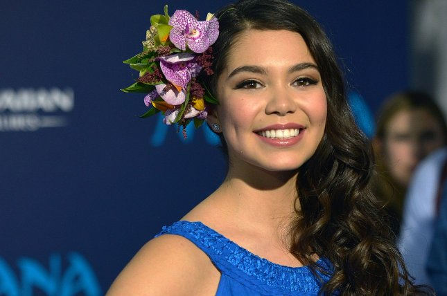 Auli'i Cravalho arrives at the world premiere of Walt Disney Animation Studios' Moana in Los Angeles on November 14. She appeared alongside other Disney princesses during the D23 Expo on Saturday. File Photo by Christine Chew/UPI