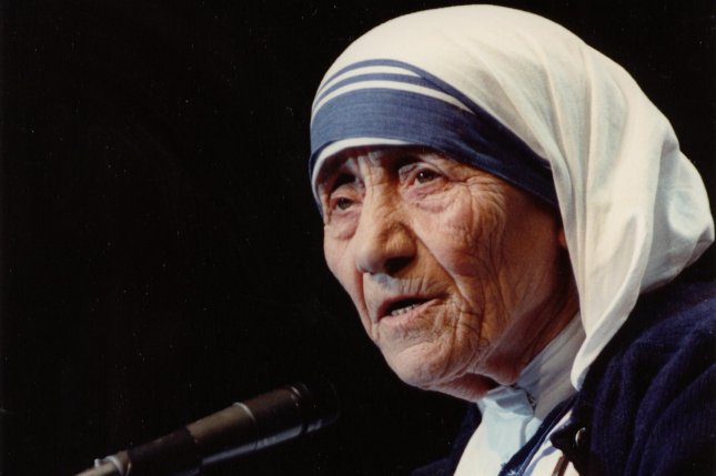 Mother Teresa, who was canonized a saint in the Roman Catholic Church, died on September 6, 1997. UPI File Photo