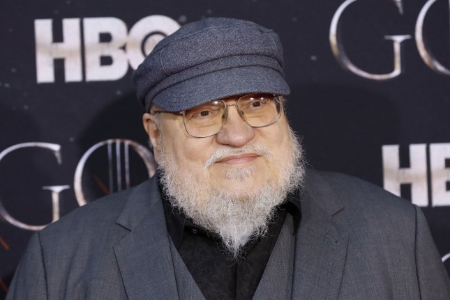 Author George R.R. Martin arrives on the red carpet at the Season 8 premiere of Game of Thrones on April 3 in New York City. Photo by John Angelillo/UPI