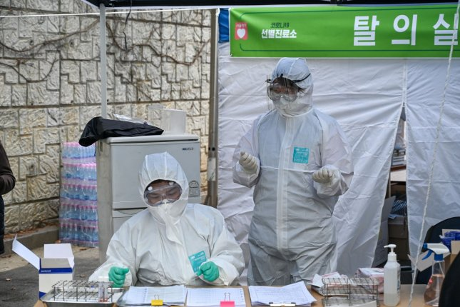 South Korea is exporting coronavirus test kits for the first time, according to Seoul's presidential Blue House on Tuesday. Photo by Thomas Maresca/UPI