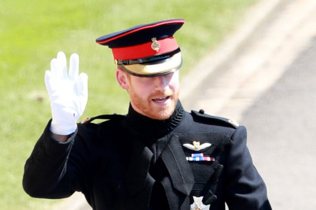 Britain's Prince Harry arrives at St George's Chapel in Windsor Castle for his royal wedding ceremony to Meghan Markle, in Windsor, England, on May 19, 2018. He turns 36 on September 15. File Photo by Lauren Hurley/UPI