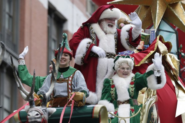 Santa Claus actors were offered early access to a future COVID-19 vaccine as part of a scrapped $250 million PSA campaign by federal health officials. File Photo by John Angelillo/UPI