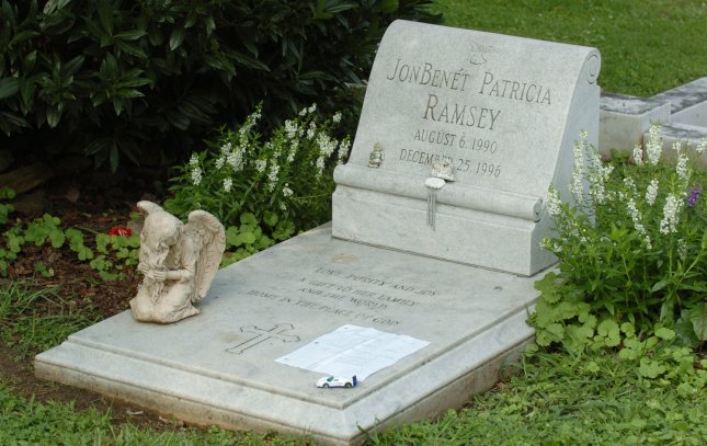 The gravesite of JonBenet Ramsey in St. James Episcopal Cemetery, Marietta, Ga., August 17, 2006. She was 6 when murdered in her Boulder, Colo. home Christmas day, 1996.(UPI Photo/John Dickerson)