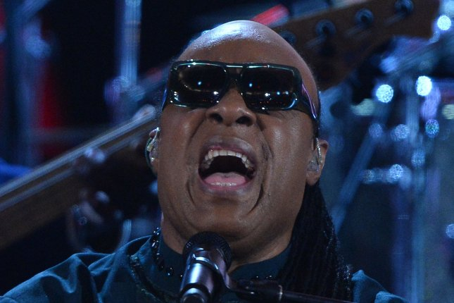 Singer and composer Stevie Wonder performs during the 45th NAACP Image Awards in Pasadena, California. UPI/Jim Ruymen