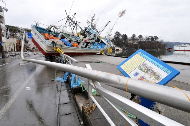 The destruction is seen in Kesennuma, Miyagi prefecture, Japan, on March 16, 2011, after a massive tsunami resulted from an earthquake. (File/UPI/Keizo Mori)
