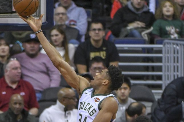 Giannis Antetokounmpo and the Milwaukee Bucks face the Indiana Pacers on Friday. Photo by Mark Goldman/UPI