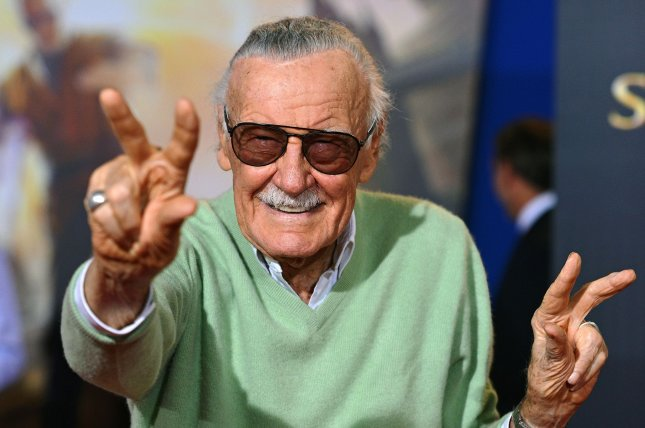Marvel comic book icon Stan Lee died Monday at the age of 95. A number of Marvel film stars and other celebrities have paid tribute to Lee on social media, including Chris Evans and Robert Downey Jr. File Photo by Christine Chew/UPI