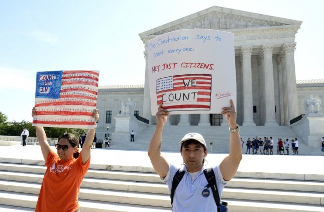 A second judge blocked the Justice Department from swapping out judges in a case to decide whether the Trump administration can include a question about citizenship on the 2020 census. Photo by Mike Theiler/UPI